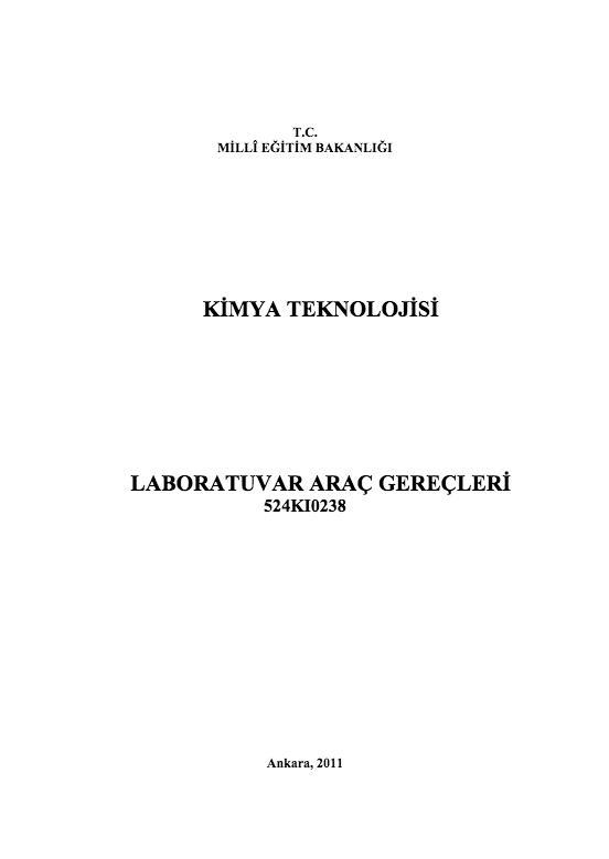 Laboratuvar Araç Gereçleri ders notu pdf