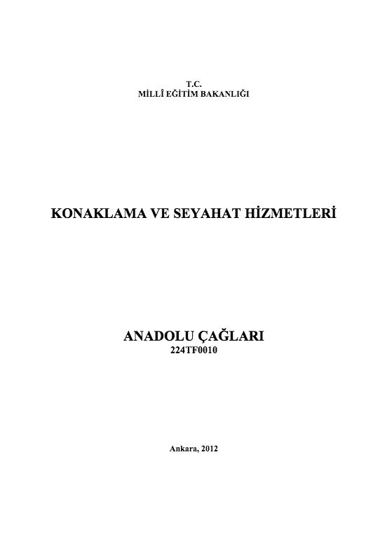 Anadolu Çağları ders notu pdf