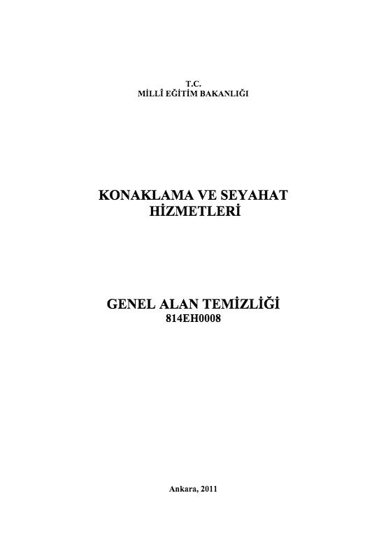 Genel Alan Temizliği ders notu pdf