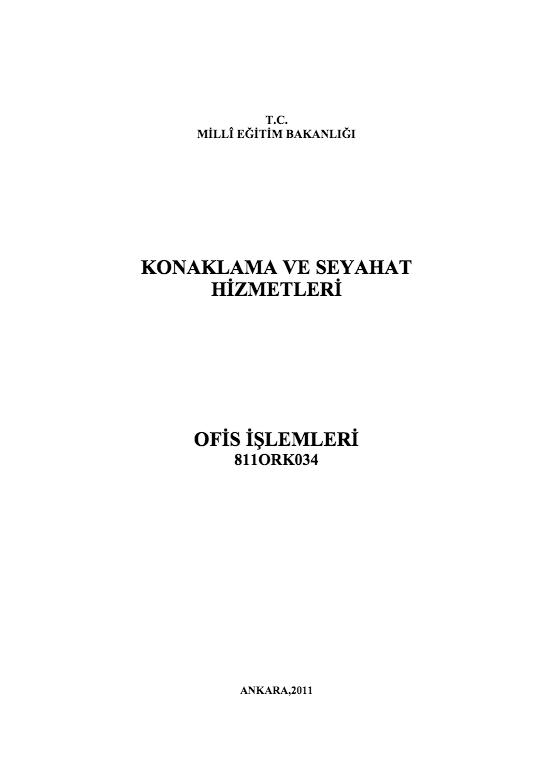Ofis İşlemleri ders notu pdf