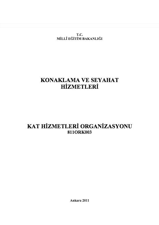 Kat Hizmetleri Organizasyonu ders notu pdf