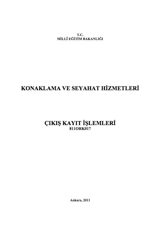 Çıkış Kayıt İşlemleri ders notu pdf