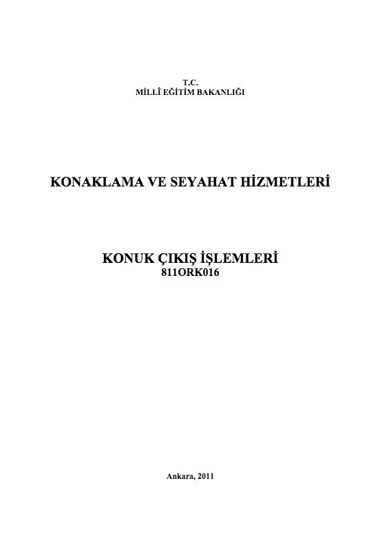 Konuk Çıkış İşlemleri ders notu pdf