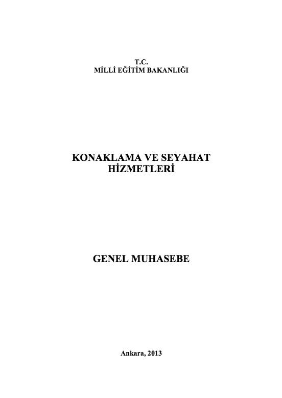 Genel Muhasebe ders notu pdf