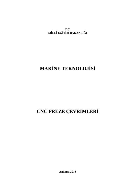 Cnc Freze Çevrimleri ders notu pdf