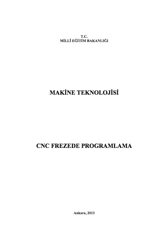 Cnc Frezede Programlama