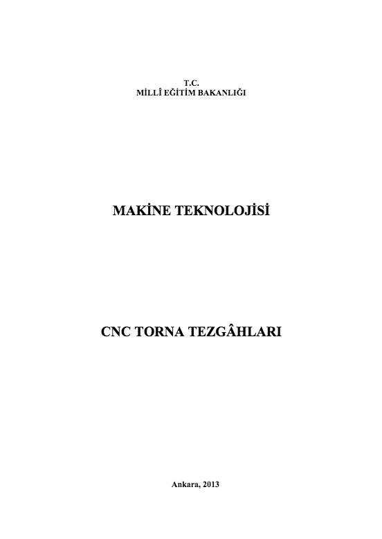 Cnc Torna Tezgâhları ders notu pdf
