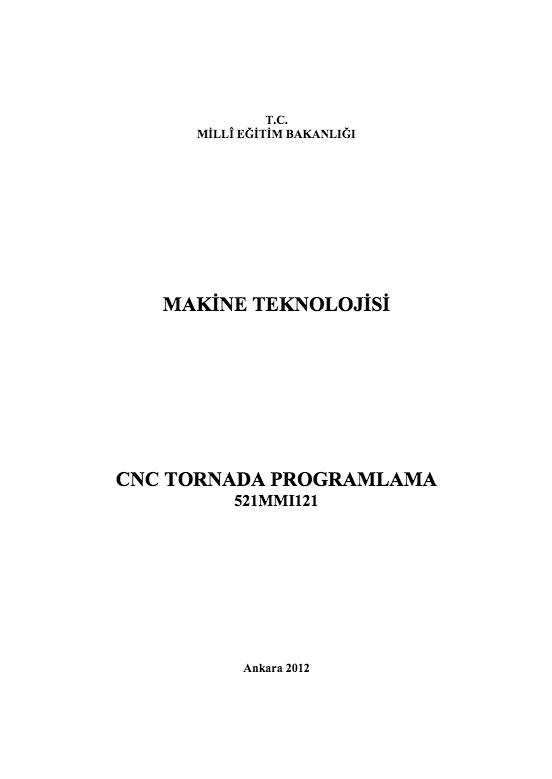 Cnc Tornada Programlama