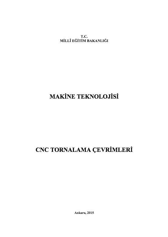 Cnc Tornalama Çevrimleri ders notu pdf