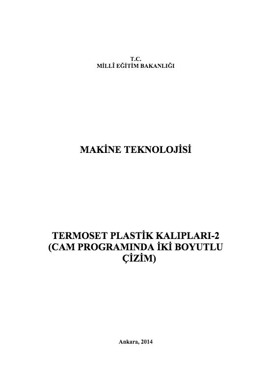 Termoset Plastik Kalıpları 2