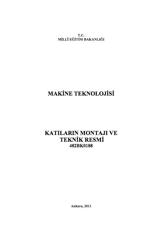 Katıların Montajı Ve Teknik Resmi ders notu pdf