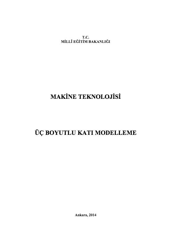 Üç Boyutlu Katı Modelleme ders notu pdf