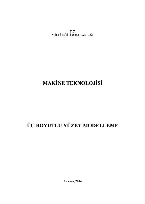 Üç Boyutlu Yüzey Modelleme ders notu pdf