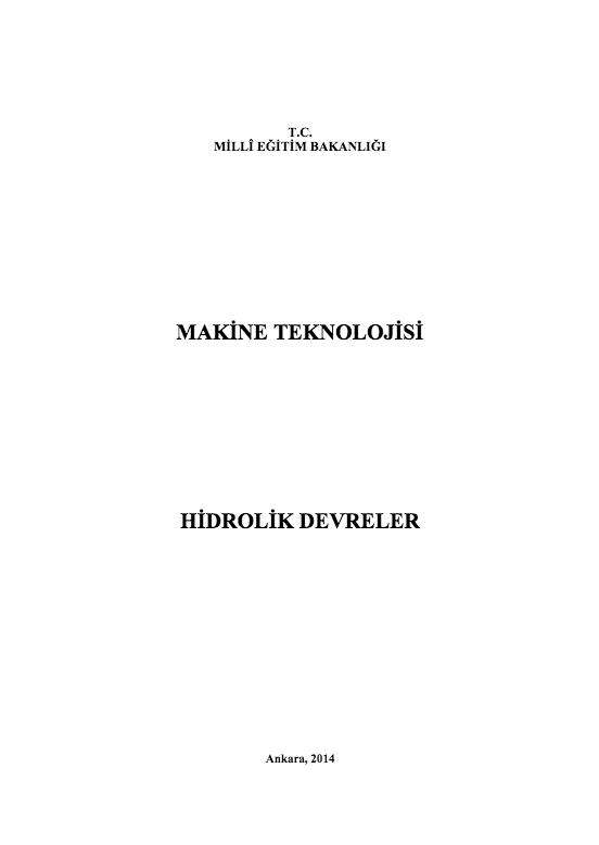 Hidrolik Devreler ders notu pdf