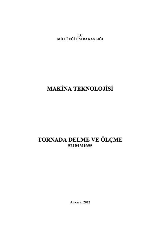 Tornada  Delme Ve Ölçme ders notu pdf