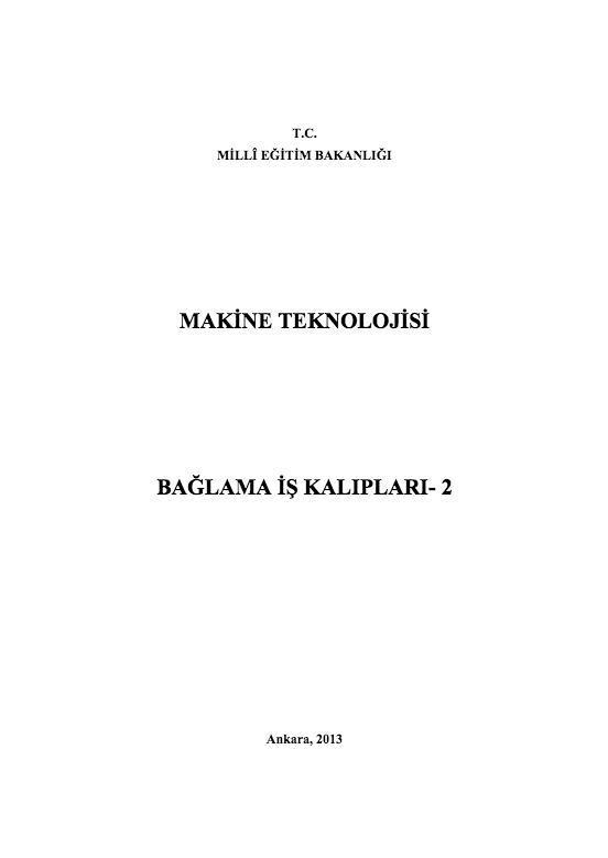 Bağlama İş Kalıpları 2 ders notu pdf