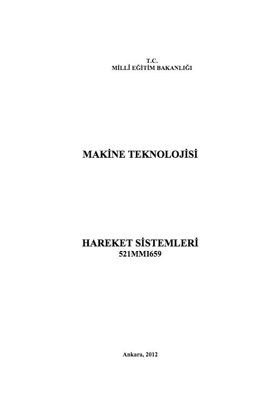 Hareket Sistemleri ders notu pdf