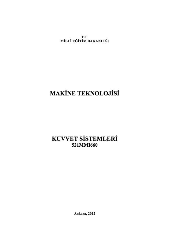 Kuvvet Sistemleri ders notu pdf