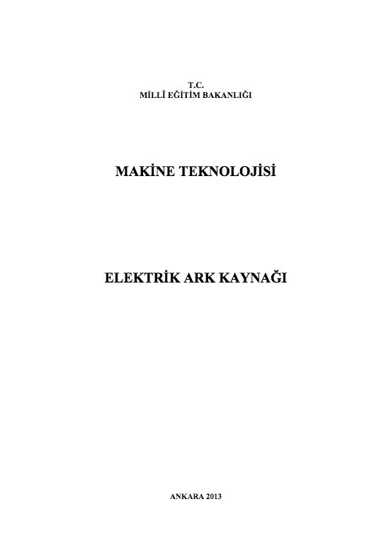 Elektrik Ark Kaynağı (Makine)