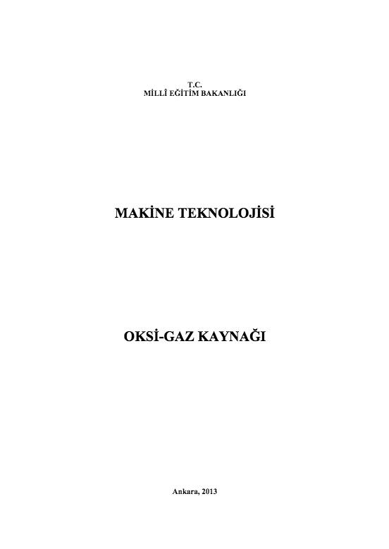 Oksi-Gaz kaynağı (Makine)