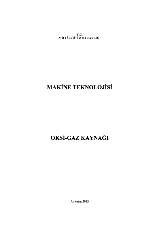 Oksi-Gaz kaynağı (Makine) ders notu pdf
