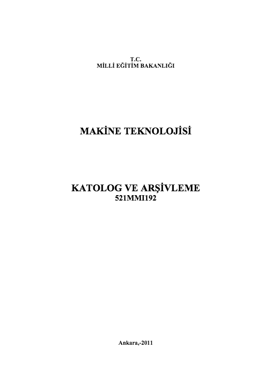 Katalog Ve Arşivleme