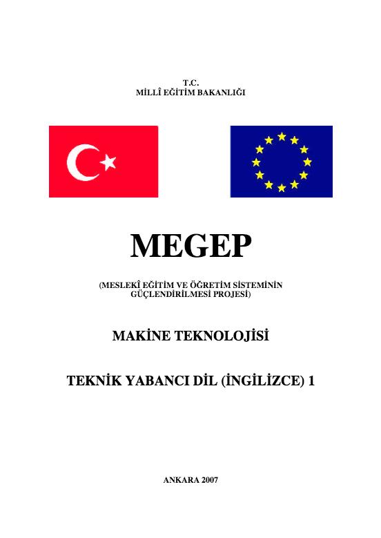 Teknik Yabancı Dil (İngilizce) 1 (Makine) ders notu pdf