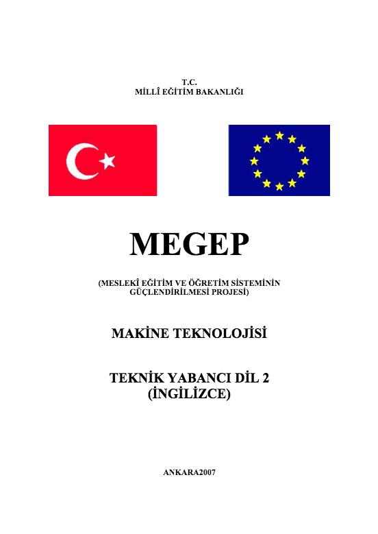 Teknik Yabancı Dil (İngilizce) 2 (Makine) ders notu pdf