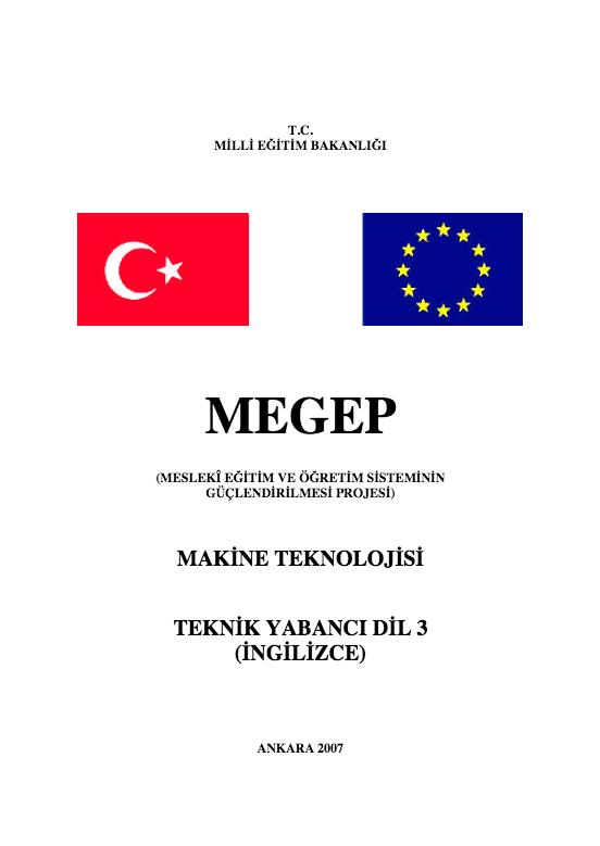 Teknik Yabancı Dil (İngilizce) 3 (Makine) ders notu pdf