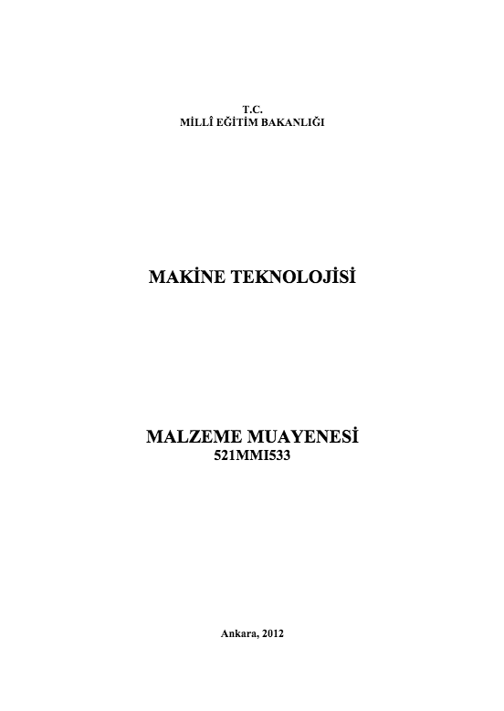 Malzeme Muayenesi