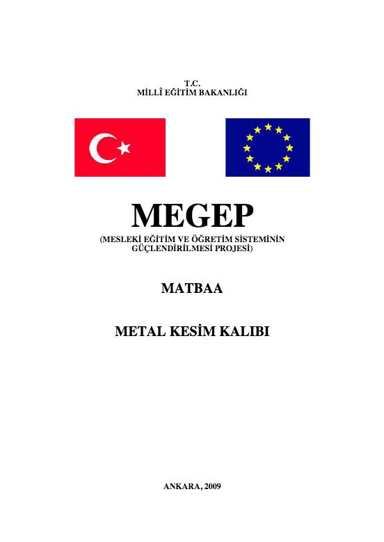 Metal Kesim Kalıbı ders notu pdf