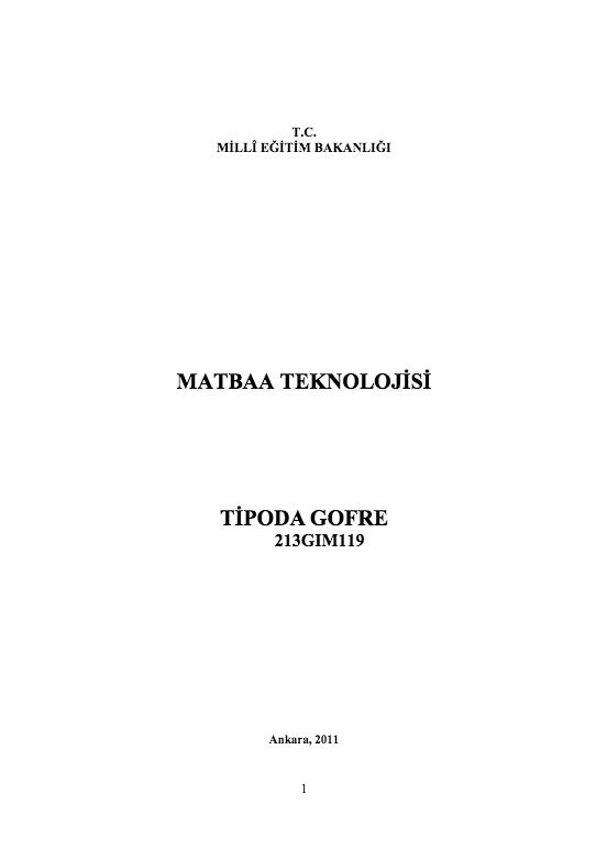 Tipoda Gofre ders notu pdf