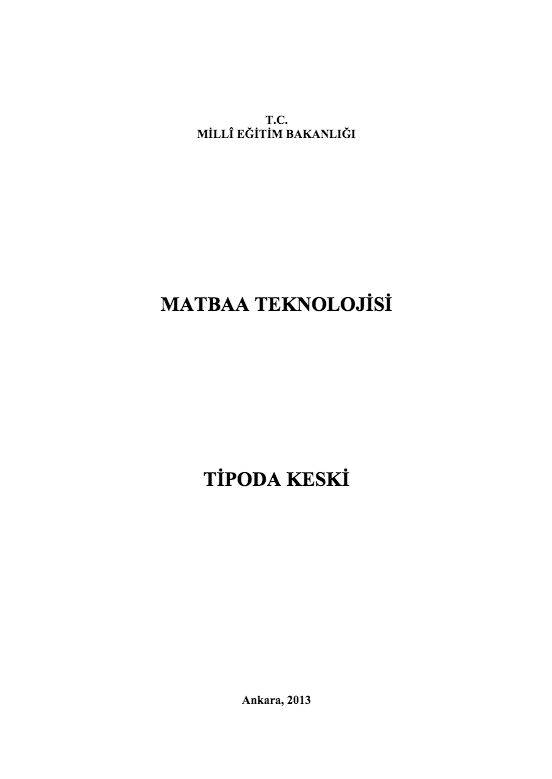 Tipoda Keski ders notu pdf