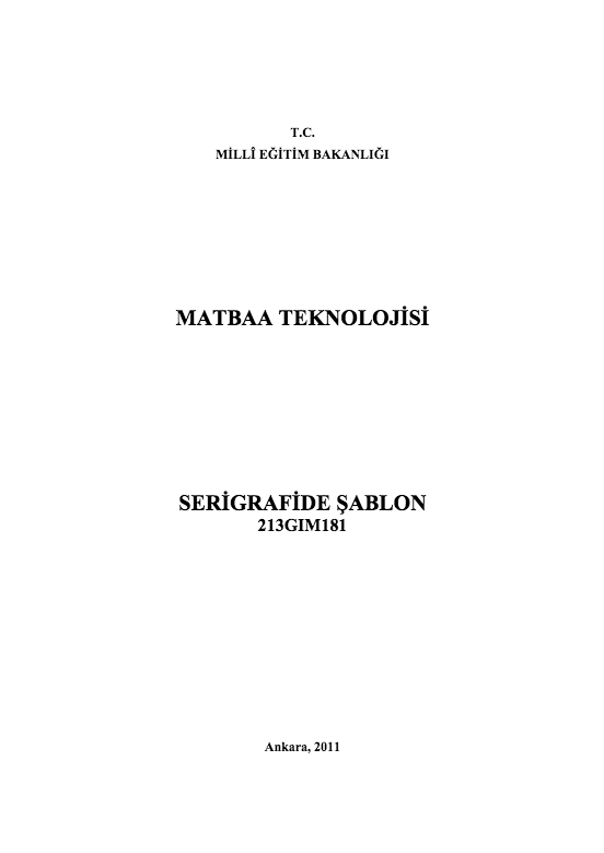 Serigrafide Şablon