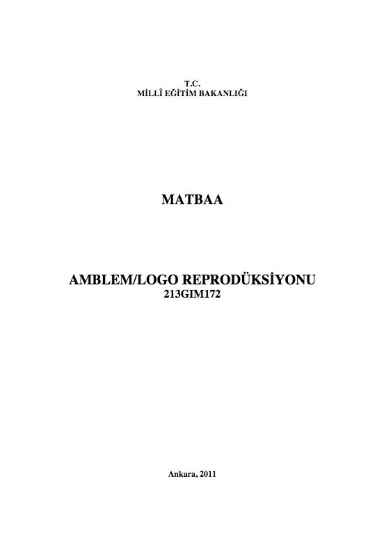 Amblem Ve Logo Röprodüksiyonu ders notu pdf