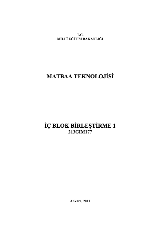 İç Blok Birleştirme 1 ders notu pdf