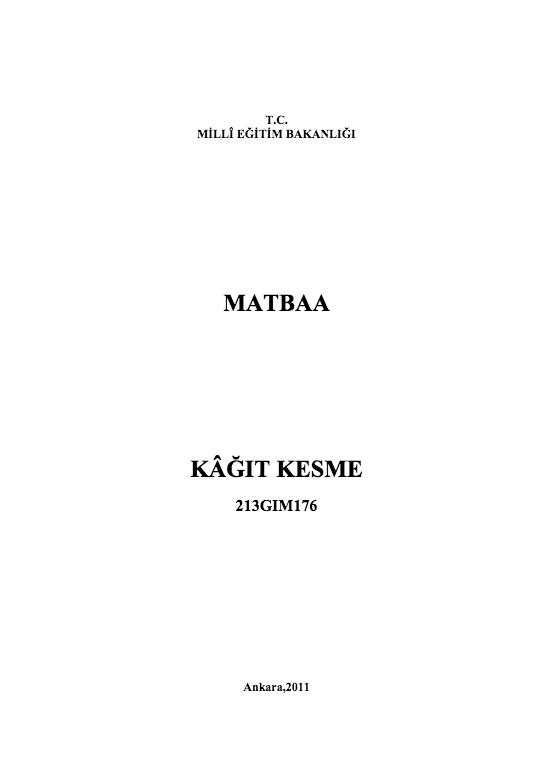 Kâğıt Kesme ders notu pdf