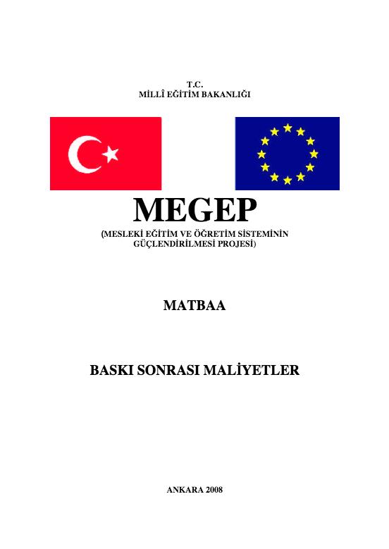 Baskı Sonrası Maliyetleri ders notu pdf