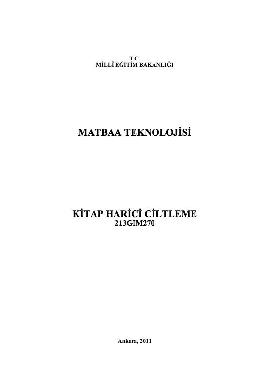 Kitap Harici Ciltleme ders notu pdf