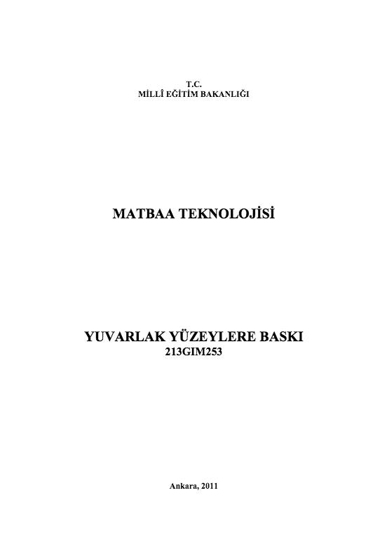 Yuvarlak Yüzeylere Baskı ders notu pdf