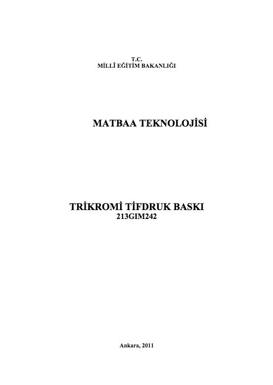 Trikromi Tifdruk Baskı ders notu pdf