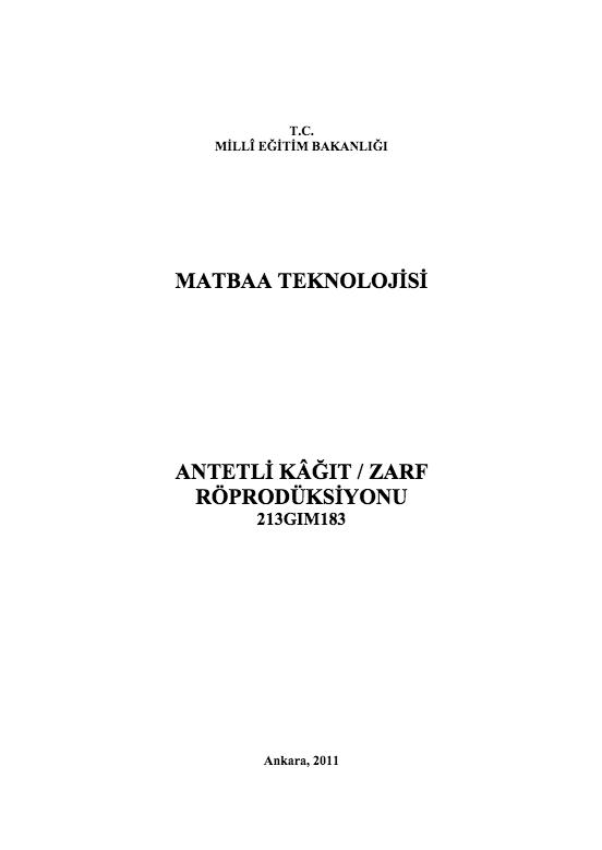 Antetli Kâğıt-zarf Röprodüksiyonu