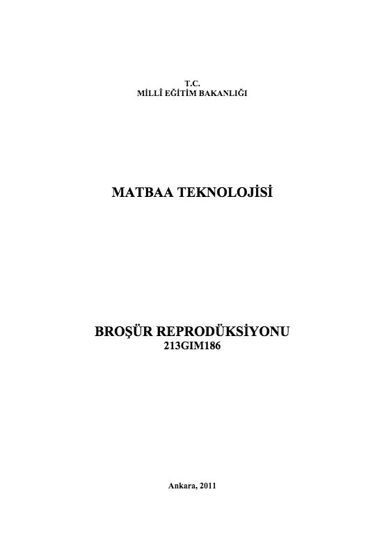 Broşür Röprodüksiyonu