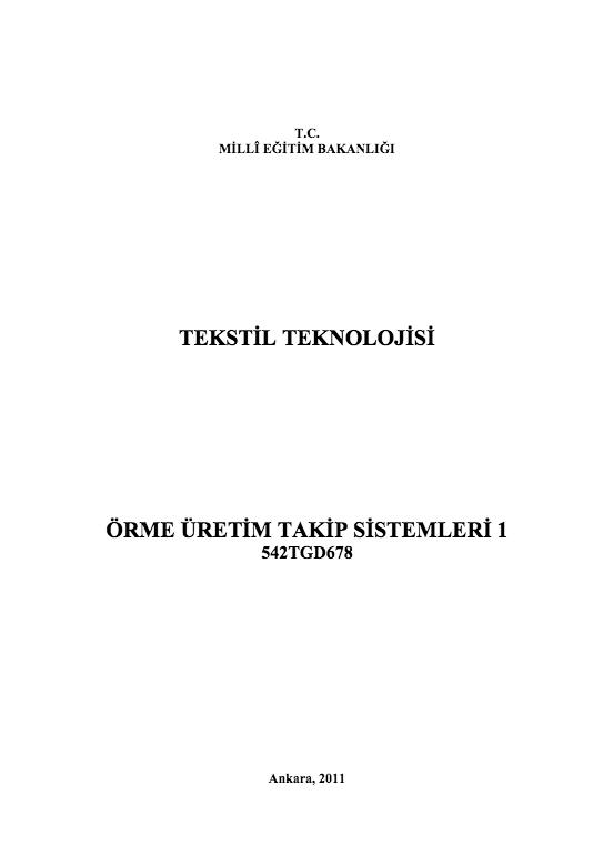 Örme Üretim Takip Sistemleri 1