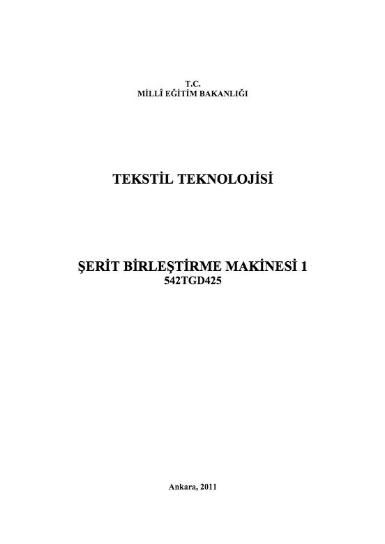 Şerit Birleştirme Makinesi 1 ders notu pdf