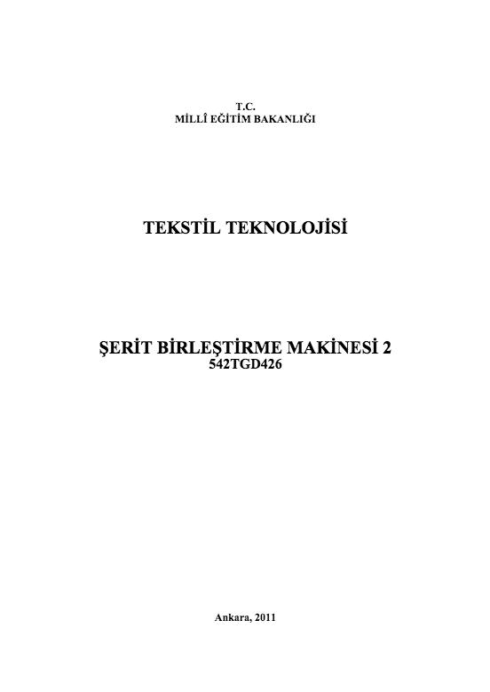 Şerit Birleştirme Makinesi 2 ders notu pdf