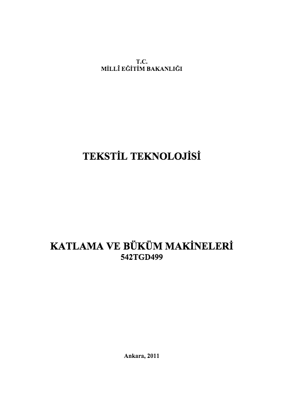 Katlama Ve Büküm Makineleri ders notu pdf