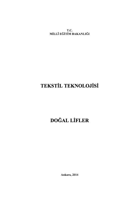 Doğal Lifler ders notu pdf