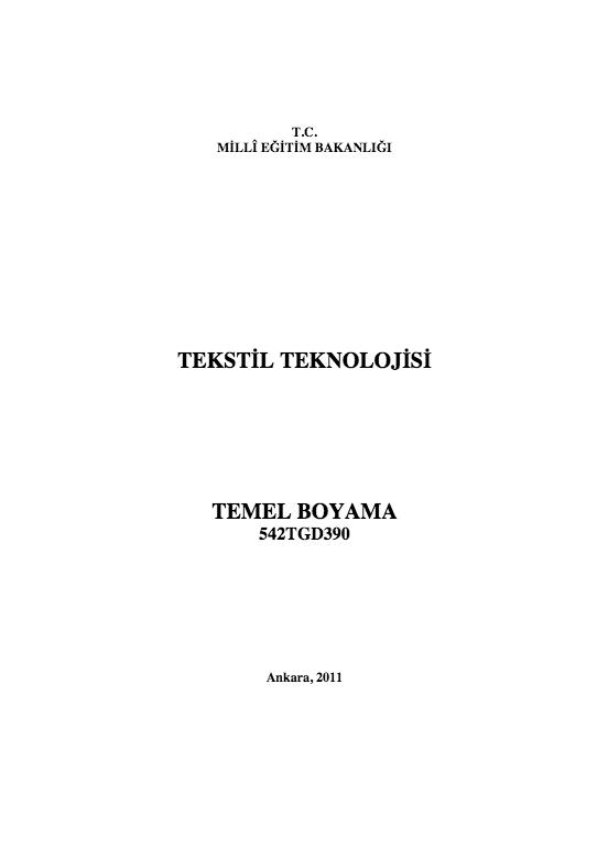 Temel Boyama ders notu pdf