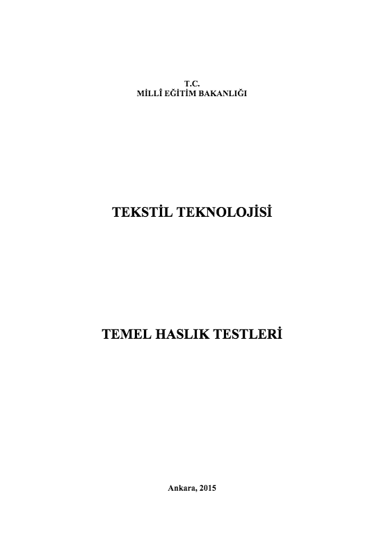 Temel Haslık Testleri ders notu pdf